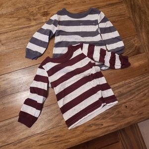 Carter's Long Sleeve Shirt set of 2, 12 Months